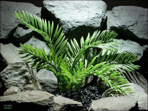 plastic reptile snake habitat plant cycus palm custom by ron beck designs