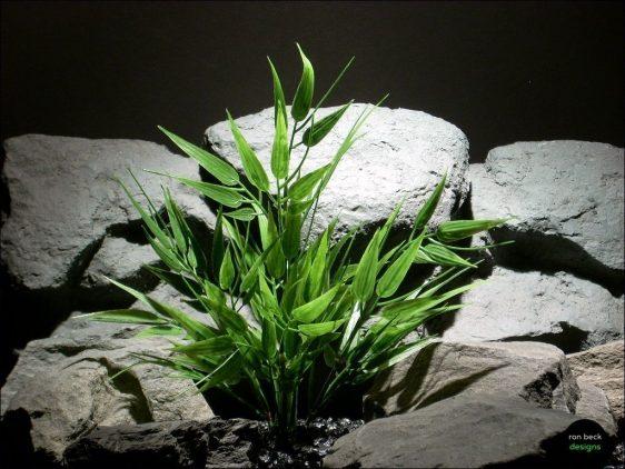 plastic aquarium plant | bamboo