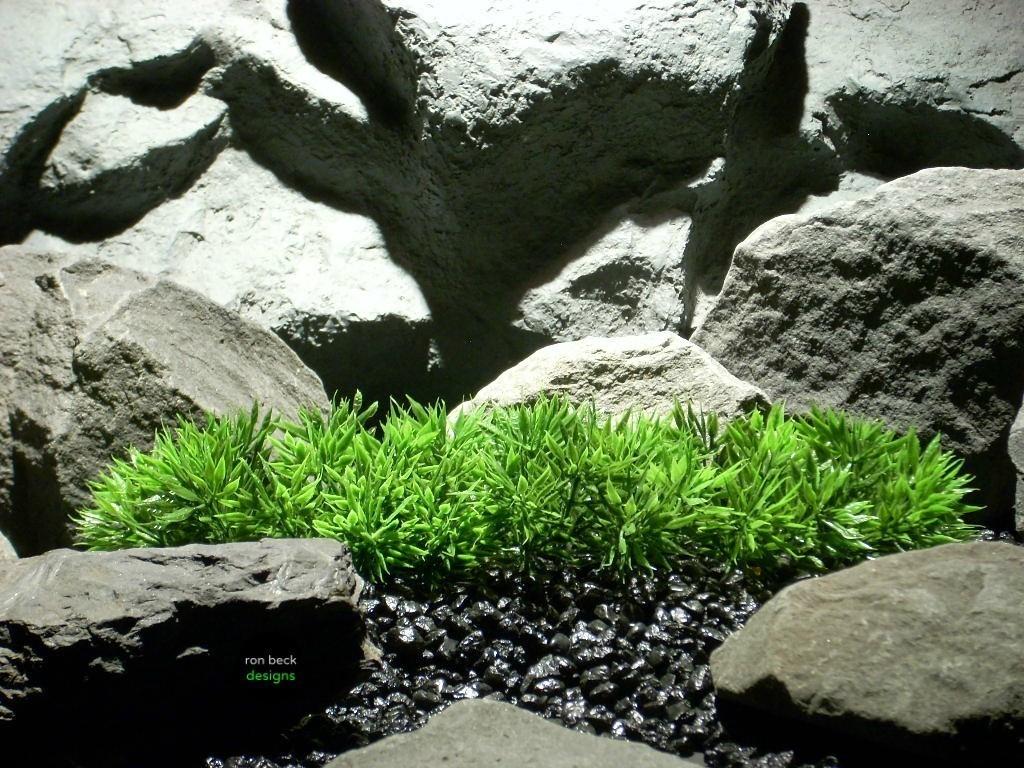 plastic aquarium plants: turf grass plot #parp094 by ron beck designs