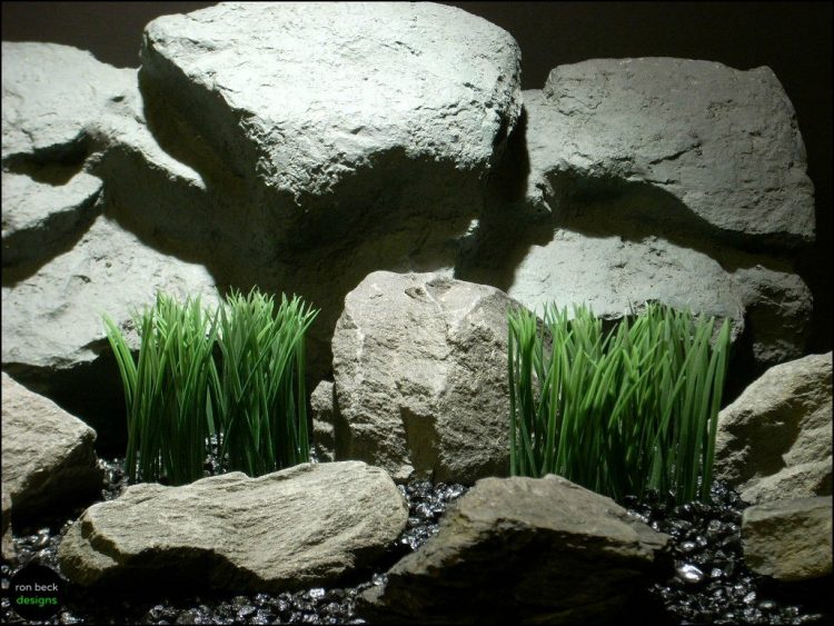 plastic aquarium marsh grass plots pap098 by ron beck designs