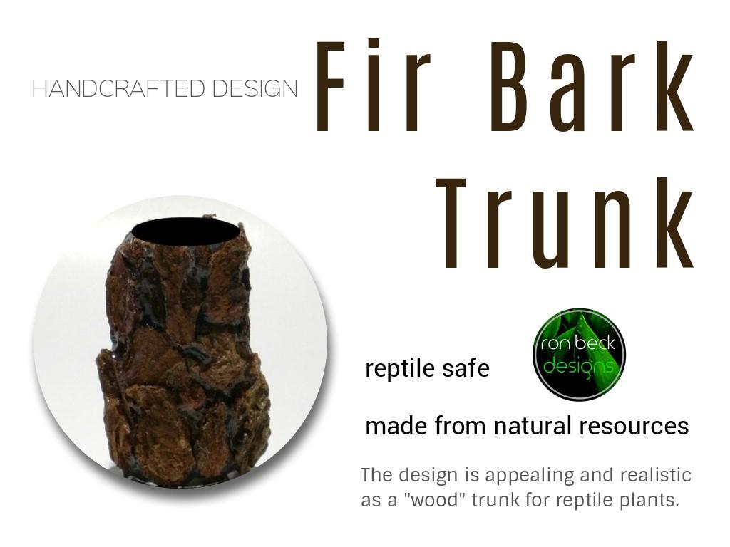 fir bark trunk | artificial reptile plants | ron beck designs 1024 768