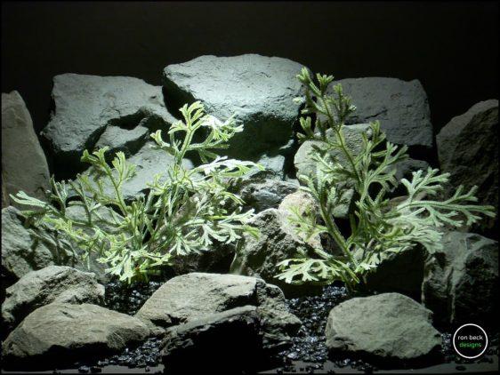plastic reptile terrarium plants spike moss bush from ron beck designs. prp202
