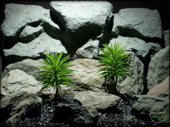 pine needle bushes artificial reptile amphibian plants prp250