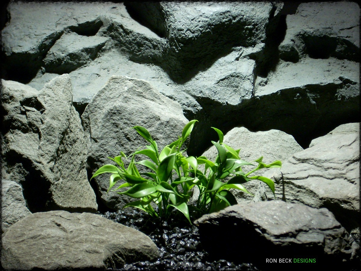 Artificial Greenery Leaf Bush - Real Touch - Artificial Reptile Plant prp324