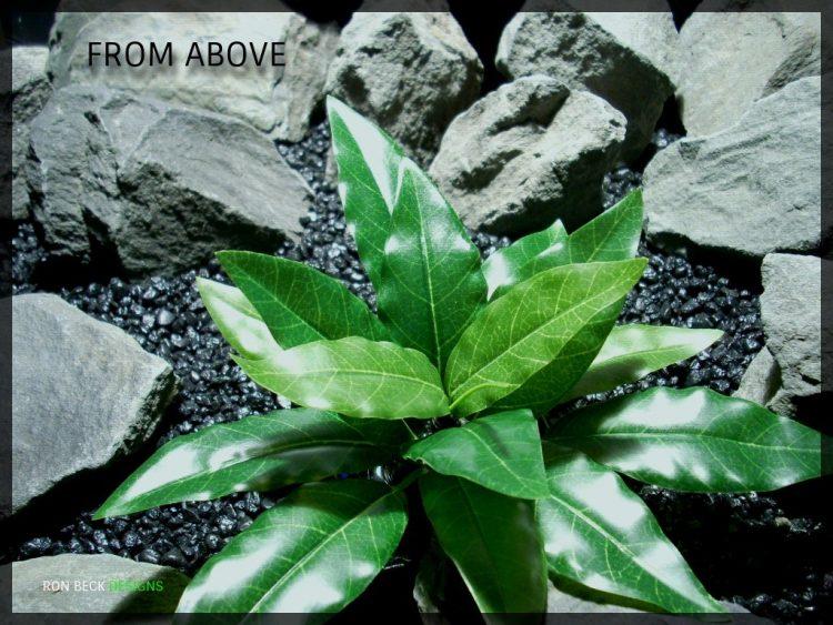 Artificial Bird of Paradise Leaves - Silk Reptile habitat Plant - 1024 srp342 3