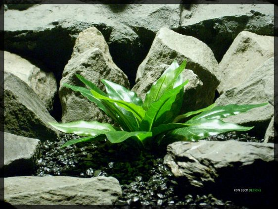 Artificial Bird of Paradise Leaves - Silk Reptile habitat Plant - srp342