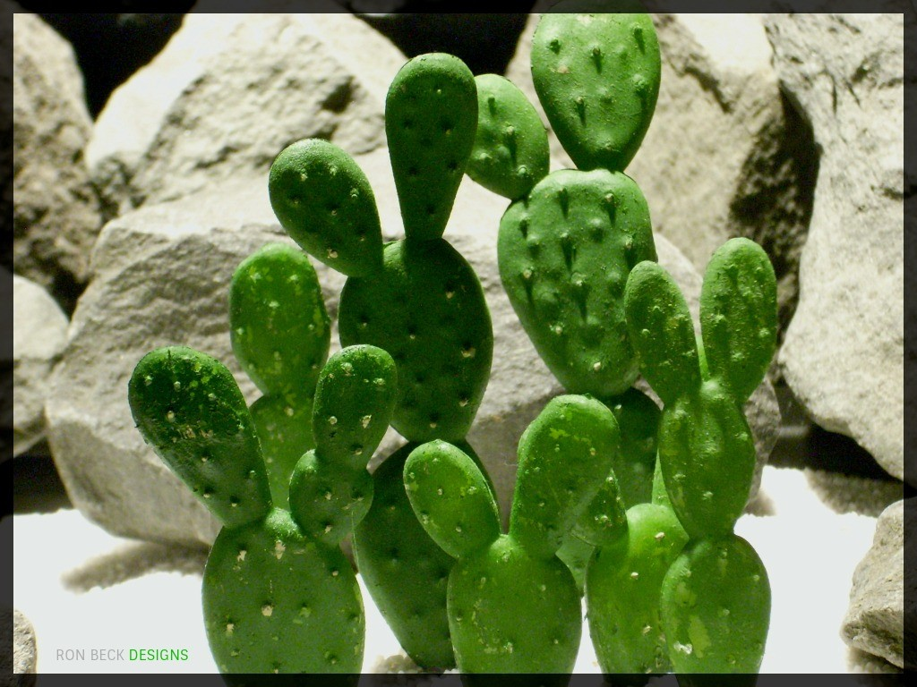 Artificial Artificial Beautertia Cactus - Artificial Reptile Desert Cactus Plant - prp347 3