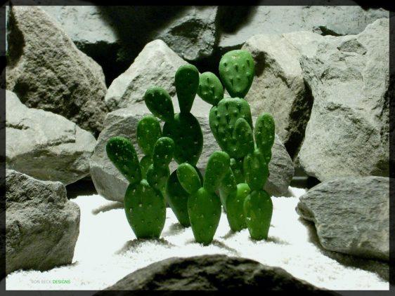 Artificial Beautertia Cactus - Artificial Reptile Desert Cactus Plant - prp347 - prp347 2