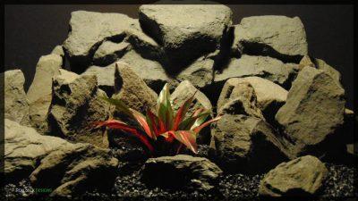 Artificial Dracaena Red Dwarf Plant - Silk Reptile Habitat Plant - srp353