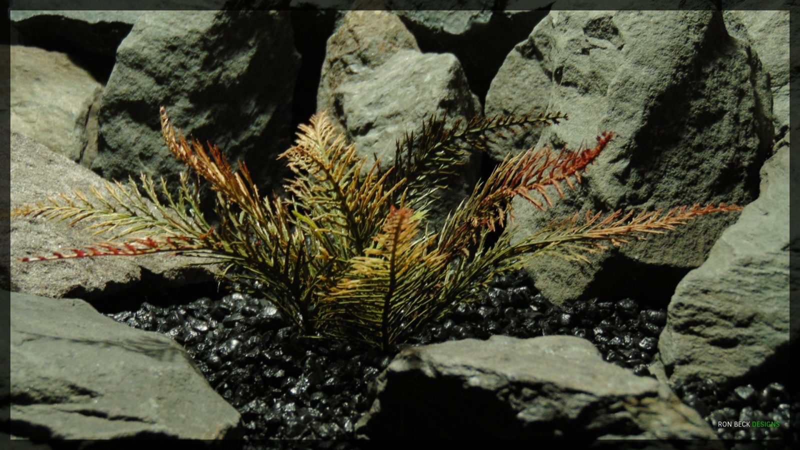 Artificial Spiked Fern - Artificial Aquarium Plant - parp360 2
