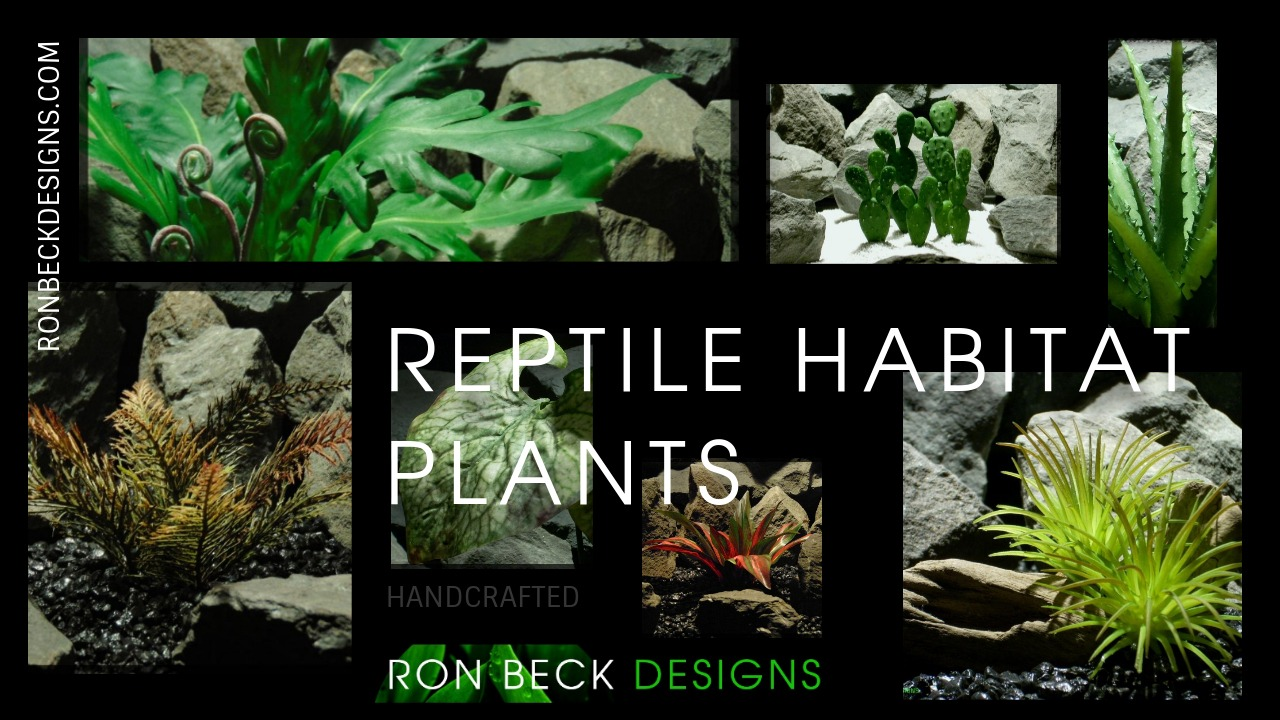 Handcrafted Reptile Habitat Plants and Succulents - Reptile Tank Decor