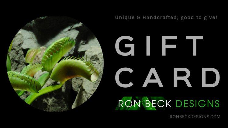 Gift Card - Gift Certificate - Venus Flytrap - Ron Beck Designs - 1600 900 2020