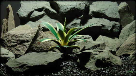 Artificial Agave Snow Glow Succulent - Reptile Desert Habitat Decor - PRP376