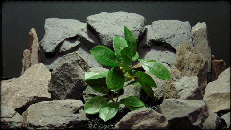 Artificial Lemon Leaves Plant - Silk Reptile Habitat Plant - srp373