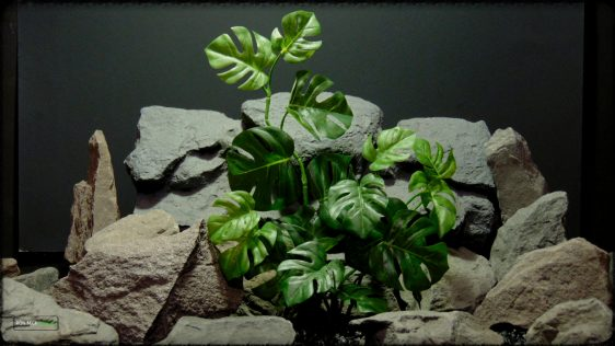 Artificial Monstera Plant - Artificial Silk Reptile Terrarium Plant - SRP378