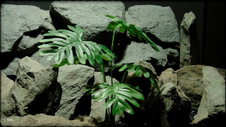 Artificial Philodendron Bipennifolium - Artificial Silk Reptile Terrarium Plant - SRP381 2