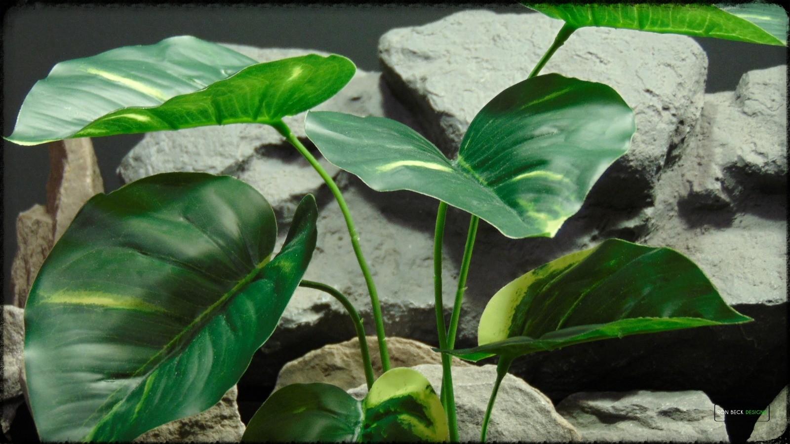 Artificial Pothos Golden - Artificial Silk Reptile Enclosure Plant - srp383 2