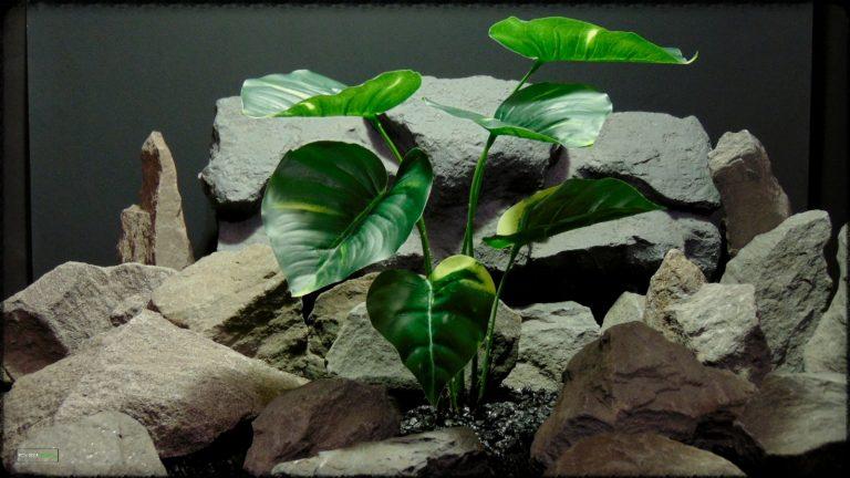Artificial Pothos Golden - Artificial Silk Reptile Enclosure Plant - srp383