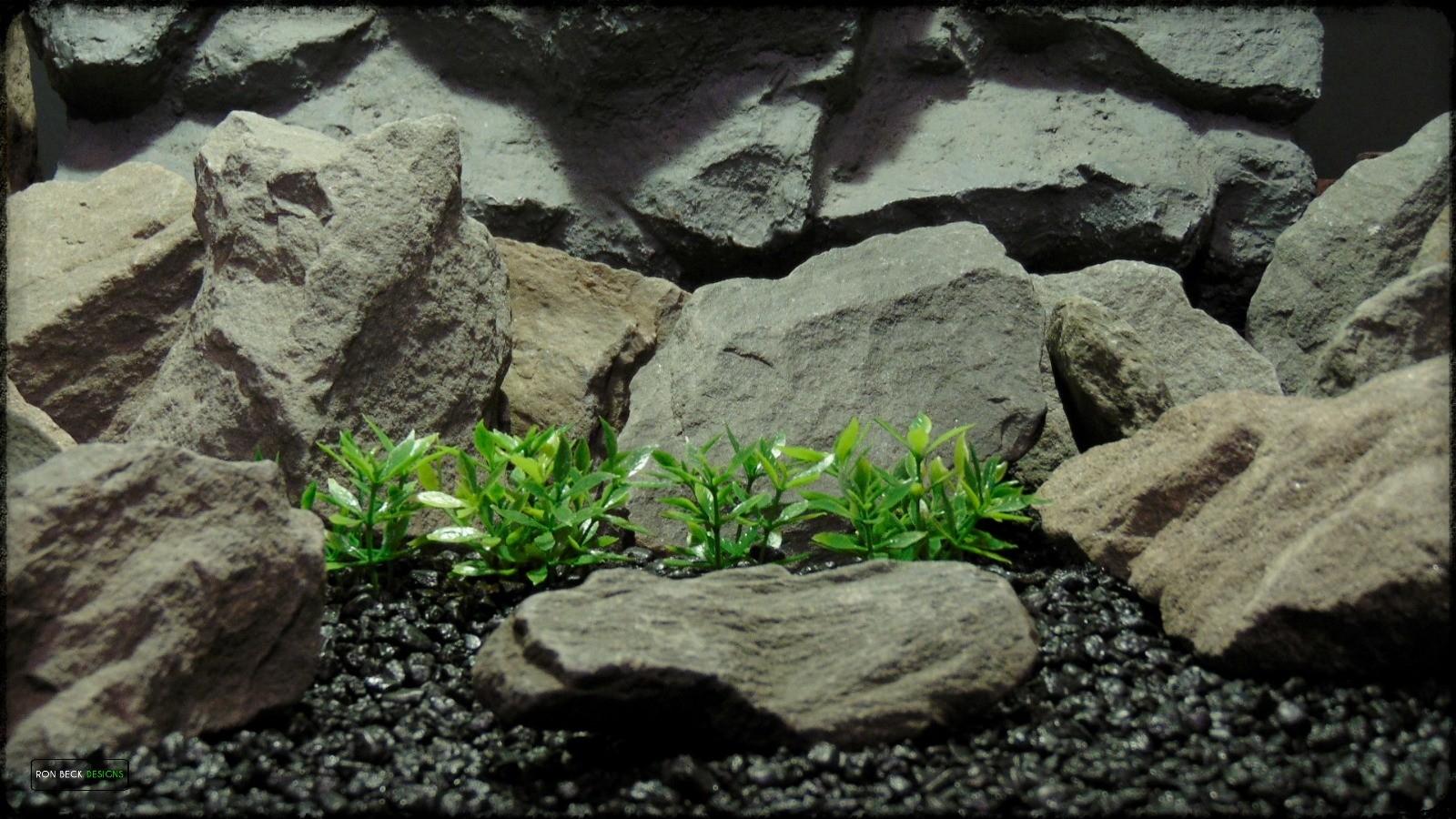 Artificial Dwarf Mini Leaves Plot Plastic Aquarium Plant - parp388