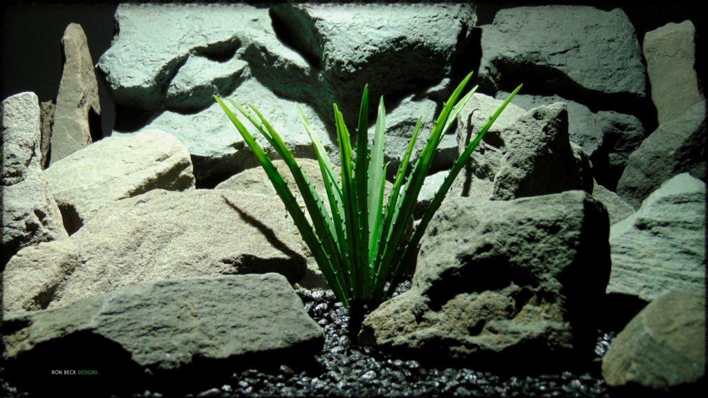 Artificial Saw Blade Grass - Artificial Aquarium Plant Reptile Habitat Plant - PARP390