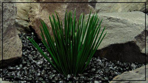 Artificial Japanese Grass - Artificial Aquarium Plant - Reptile Plant - PARP414 3