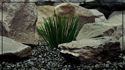 Artificial Japanese Grass - Artificial Aquarium Plant - Reptile Plant - PARP414