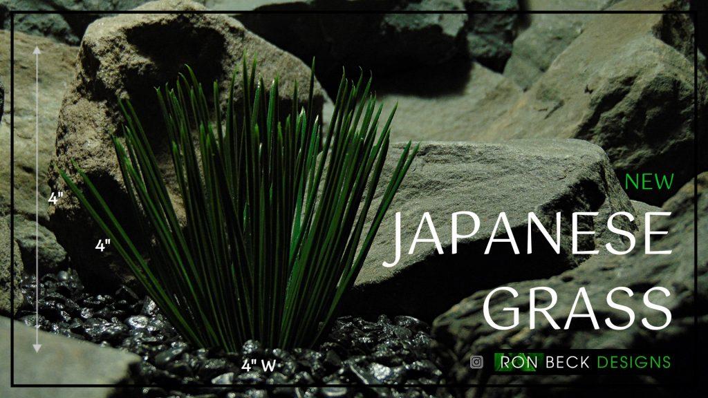 Artificial Japanese Grass - Artificial Aquarium Plant - Reptile Plant - PARP414 Cover