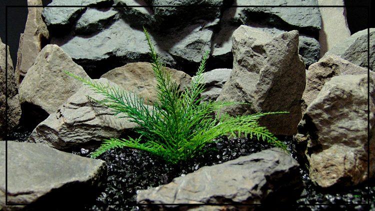 Artificial Spiked Fern - Aquarium or Reptile Terrarium Plant parp417 3