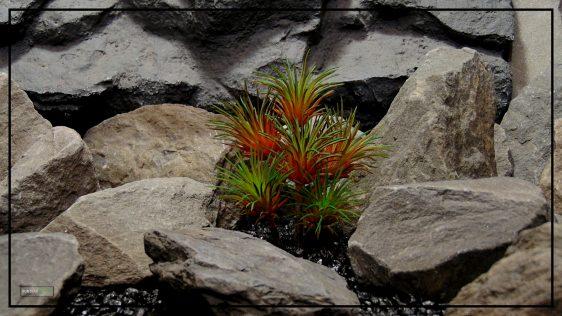 Artificial Tillandisa (Red) - Artificial Desert Reptile Decor Plant prs421