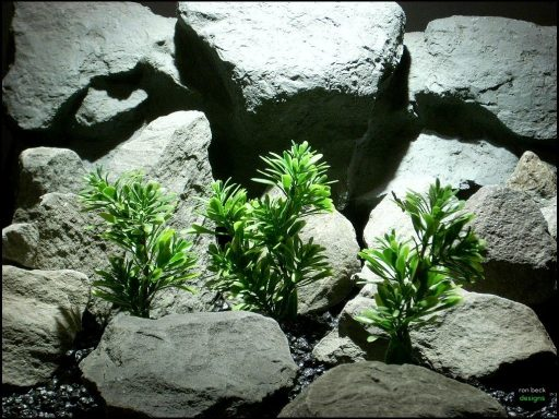 plastic aquarium plants mini leaf bush's pap133 from ron beck designs